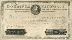 200 Livres FRANCE  1791 Ass.17a SUP