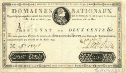 200 Livres FRANCE  1792 Ass.33a TTB