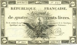 400 Livres FRANCE  1792 Ass.38a SUP