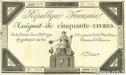 50 Livres FRANCE  1792 Ass.39a TTB+