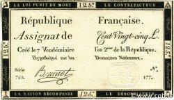 125 Livres FRANCE  1793 Ass.44a SUP