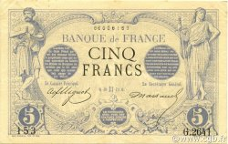 5 Francs NOIR FRANCE  1873 F.01.18 SUP+