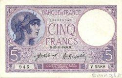 5 Francs VIOLET FRANCE  1920 F.03.04 SPL+