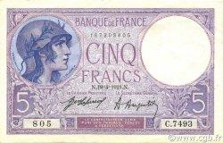 5 Francs VIOLET FRANCE  1921 F.03.05 SUP+