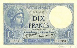 10 Francs MINERVE FRANCE  1930 F.06.14 pr.NEUF