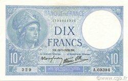 10 Francs MINERVE modifié FRANCE  1939 F.07.03 SPL