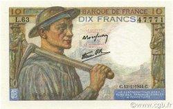 10 Francs MINEUR FRANCE  1944 F.08.10 NEUF
