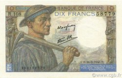 10 Francs MINEUR FRANCE  1946 F.08.15 SPL+