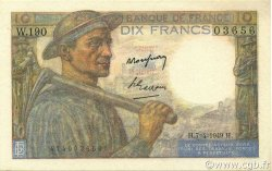 10 Francs MINEUR FRANCE  1949 F.08.21 SPL+
