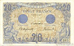 20 Francs BLEU FRANCE  1906 F.10.01 TTB+