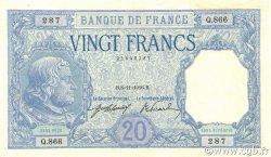20 Francs BAYARD FRANCE  1916 F.11.01 pr.SUP