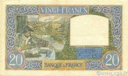 20 Francs SCIENCE ET TRAVAIL FRANCE  1939 F.12.01 TTB+
