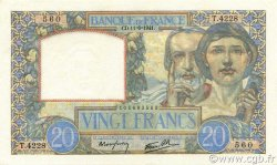 20 Francs SCIENCE ET TRAVAIL FRANCE  1941 F.12.15 NEUF