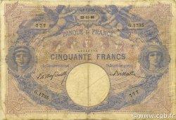 50 Francs BLEU ET ROSE FRANCE  1899 F.14.11 B