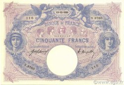 50 Francs BLEU ET ROSE FRANCE  1920 F.14.33 SUP à SPL