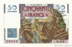 50 Francs LE VERRIER FRANCE  1951 F.20.17 NEUF