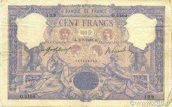 100 Francs ROSE ET BLEU FRANCE  1908 F.21.23 TB