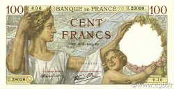 100 Francs SULLY FRANCE  1942 F.26.65 pr.NEUF