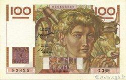 100 Francs JEUNE PAYSAN FRANCE  1950 F.28.27 pr.SPL