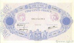 500 Francs BLEU ET ROSE modifié FRANCE  1938 F.31.14 SUP