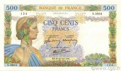 500 Francs LA PAIX FRANCE  1941 F.32.23 NEUF