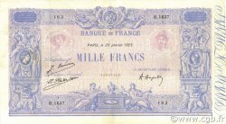 1000 Francs BLEU ET ROSE FRANCE  1923 F.36.39 TTB+
