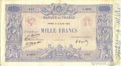 1000 Francs BLEU ET ROSE FRANCE  1925 F.36.41 TTB à SUP