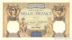 1000 Francs CÉRÈS ET MERCURE FRANCE  1927 F.37.01 SUP à SPL