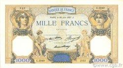 1000 Francs CÉRÈS ET MERCURE FRANCE  1937 F.37.10 SUP