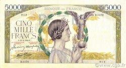 5000 Francs VICTOIRE Impression à plat FRANCE  1943 F.46.47 pr.SUP