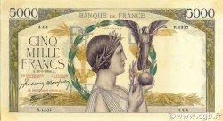 5000 Francs VICTOIRE Impression à plat FRANCE  1944 F.46.50 pr.SPL