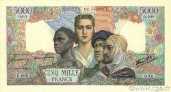 5000 Francs EMPIRE FRANÇAIS FRANCE  1942 F.47.00s2 NEUF