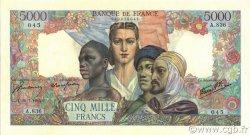 5000 Francs EMPIRE FRANÇAIS FRANCE  1945 F.47.35 SUP+