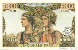 5000 Francs TERRE ET MER FRANCE  1953 F.48.10 SPL