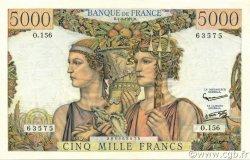 5000 Francs TERRE ET MER FRANCE  1957 F.48.13 SUP+