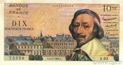 10 Nouveaux Francs RICHELIEU FRANCE  1960 F.57.08 TTB à SUP