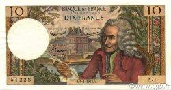 10 Francs VOLTAIRE FRANCE  1963 F.62.01 SUP