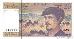 20 Francs DEBUSSY à fil de sécurité FRANCE  1991 F.66bis.02 pr.NEUF