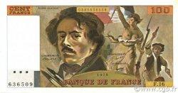 100 Francs DELACROIX modifié FRANCE  1979 F.69.02c SUP à SPL