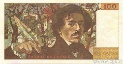 100 Francs DELACROIX modifié FRANCE  1982 F.69.06 SUP+