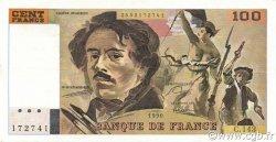 100 Francs DELACROIX imprimé en continu FRANCE  1990 F.69bis.01b3 TTB à SUP