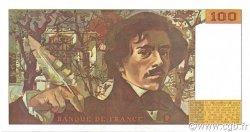 100 Francs DELACROIX imprimé en continu FRANCE  1990 F.69bis.02c NEUF