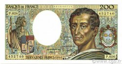 200 Francs MONTESQUIEU FRANCE  1984 F.70.04 NEUF
