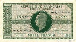 1000 Francs MARIANNE chiffres gras FRANCE  1945 VF.12.01 TTB+