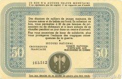 50 Francs BON DE SOLIDARITE FRANCE régionalisme et divers  1941 KL.09 SPL