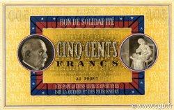 500 Francs BON DE SOLIDARITE FRANCE régionalisme et divers  1941 KL.11 pr.NEUF
