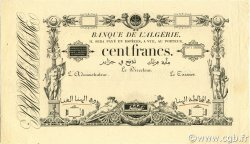 100 Francs type 1852/1866 ALGÉRIE  1852 P.010s SPL