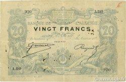 20 Francs ALGÉRIE  1887 P.015x TTB