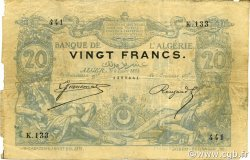 20 Francs ALGÉRIE  1884 P.015x pr.TB