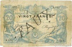 20 Francs ALGÉRIE  1884 P.015x B+